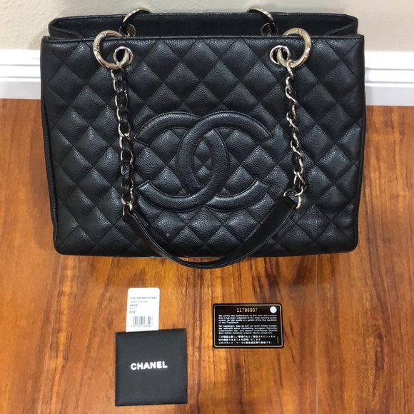4ed65c5070e2 CHANEL Handbags - Authentic Chanel Grand Shopper Tote Black Caviar